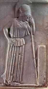 Athena, mourning