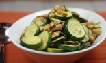 Chickpea and pickled zucchini salad
