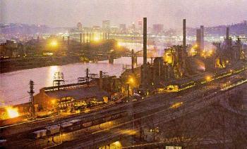 Jones and Laughlin Steel Mill in Aliquippa, c. 1970