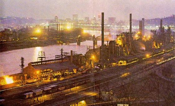Jones and Laughlin Steel Mill in Aliquippa, c. 1970