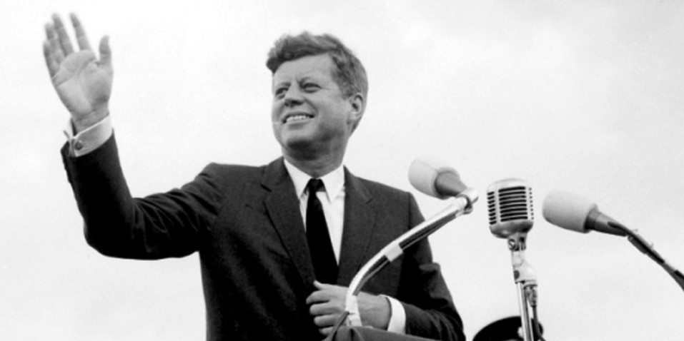File photo dated 27/06/1963 of US President John F. Kennedy acknowledging the cheers of the crowd when he visits New Ross, Co. Wexford, Ireland as the world marks the 50th anniversary of the assassination of JFK.