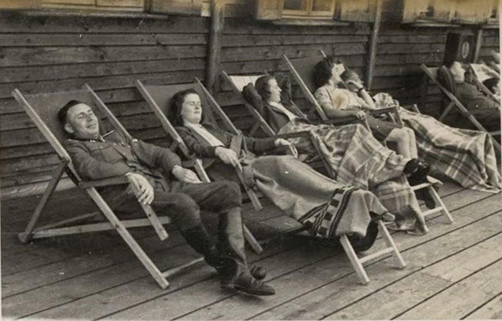 Resting at the Solahütte retreat center.